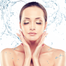 Replenish Skin - Female model, clear hydrated skin